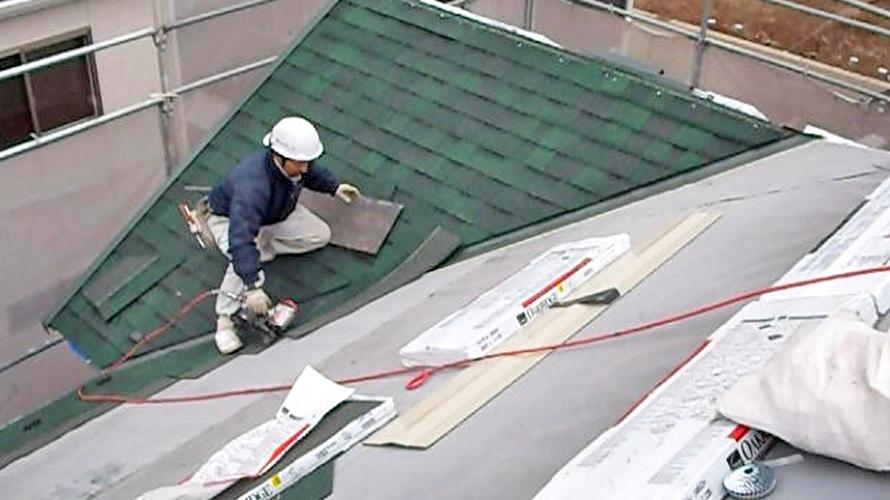 屋根工事ってこんな感じです。