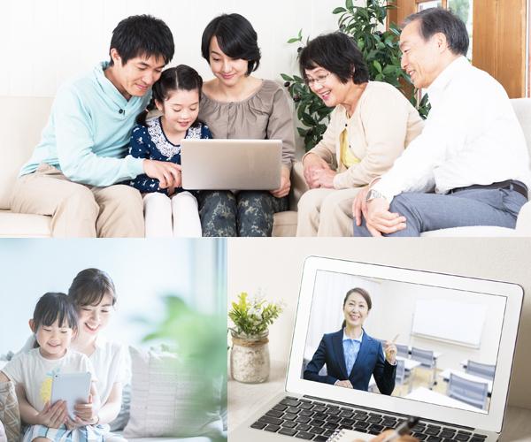相談する家族たち