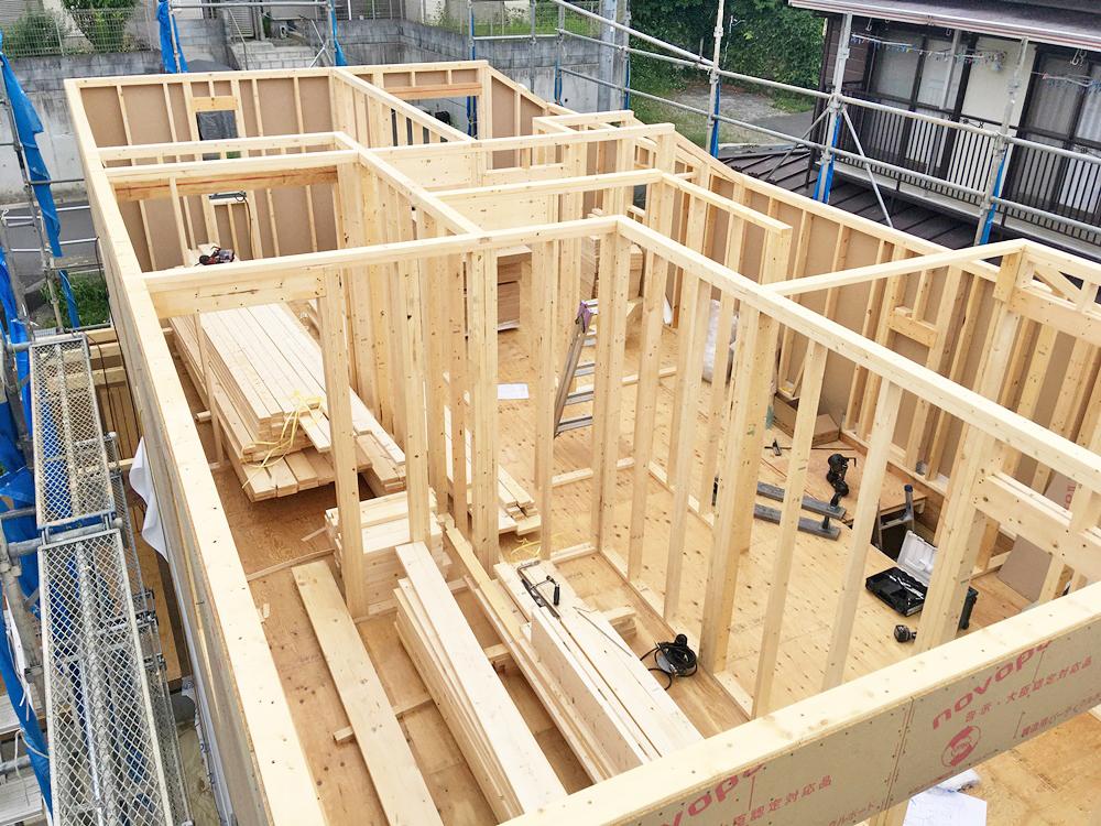 八王子市 O様邸 -建方工事完成-