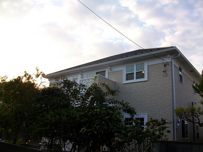 ジョージアン調の輸入スタイルの家