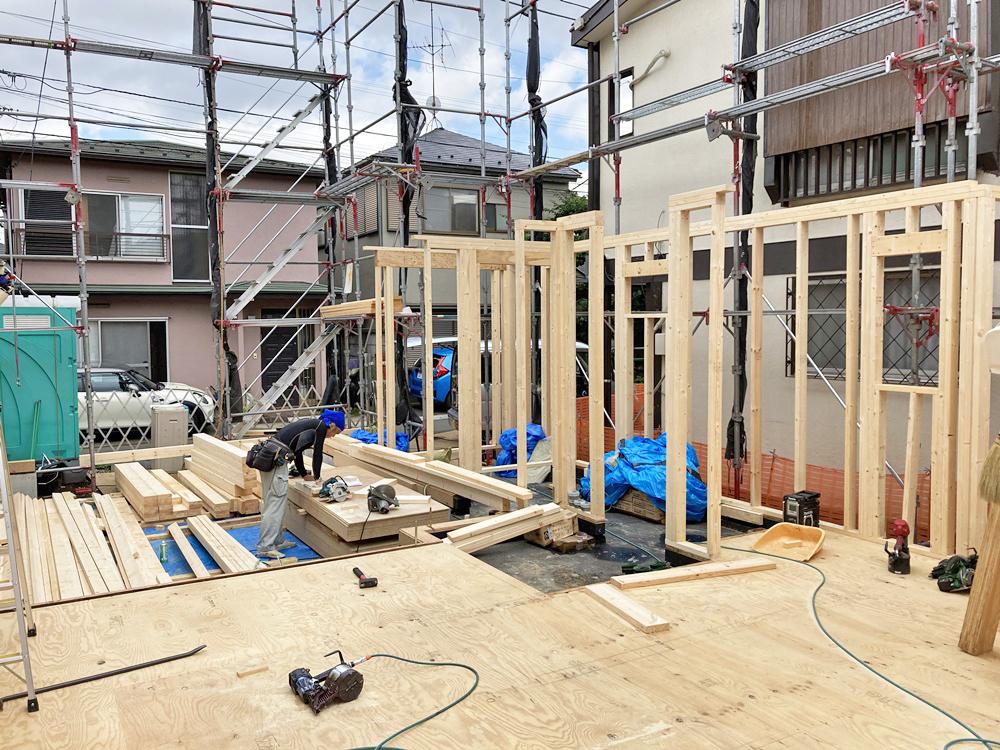 中野区 M様邸 -1F建方-
