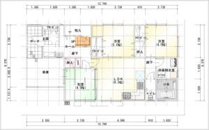 2世帯住宅図面1F