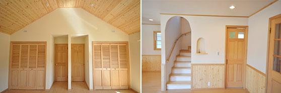 天然木・塗壁・自然塗料施工イメージ