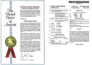特許認定書アメリカ