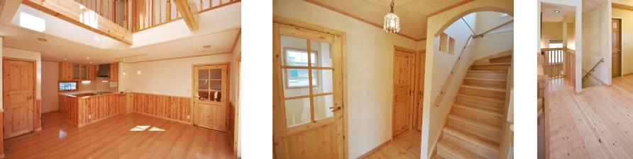 フローリング、内装ドア、階段のイメージ写真